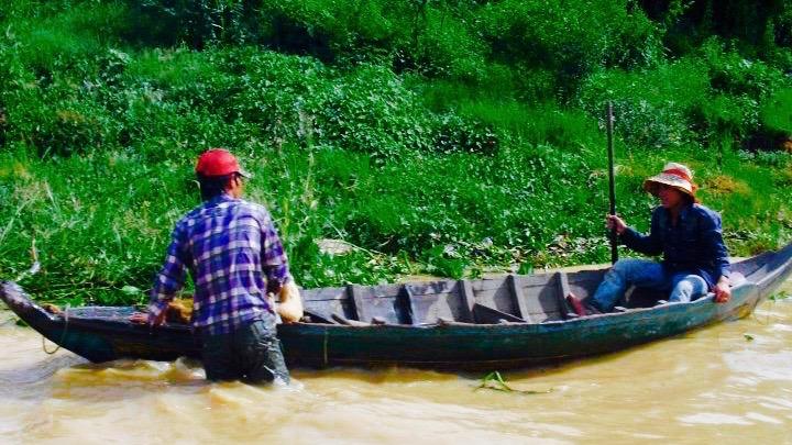 een drijvend dorp in Siem Reap