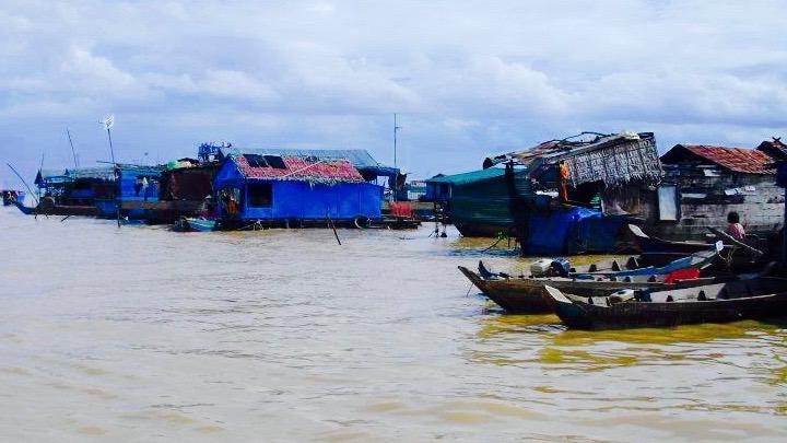 bezoek een drijvend dorp in Siem Reap