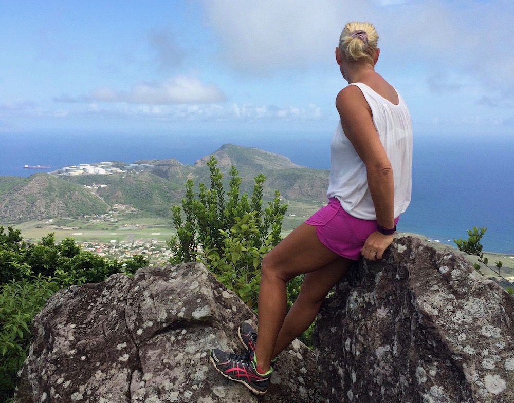 hiken op Sint Eustatius