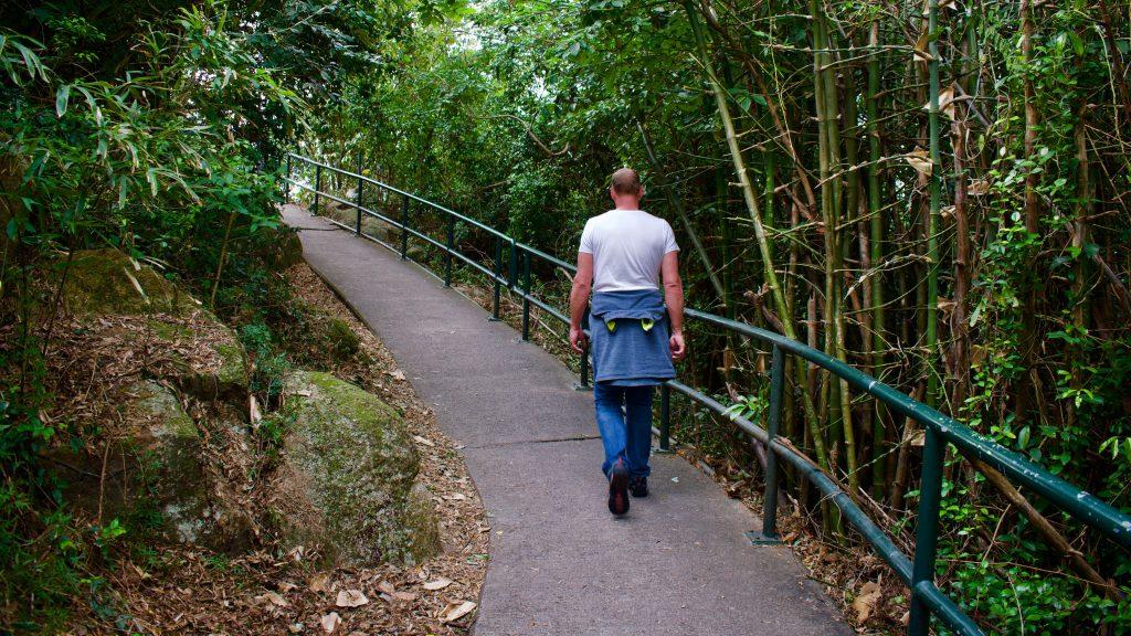 hongkong: wandelen op het visserseiland Cheung Chau